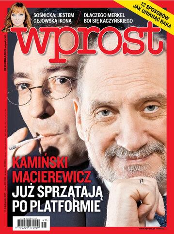 Okładka tygodnika Wprost nr 45/2015 (1704)