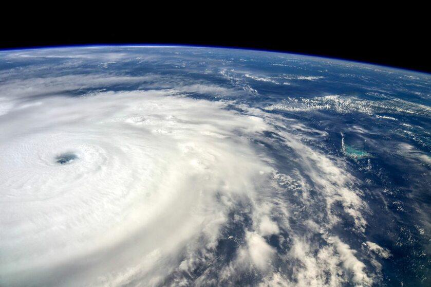 Huragan Irma widziany z Międzynarodowe Stacji Kosmicznej, 7 września