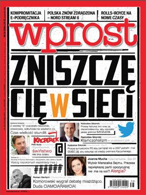 Okładka tygodnika Wprost nr 38/2015 (1697)
