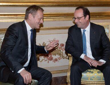 """Kontrkandydat? Hollande popiera Tuska. """"Nie ma powodu, bym wycofał..."""