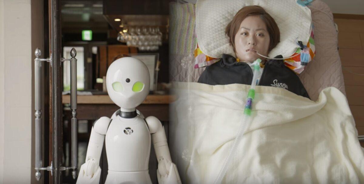 Niepełnosprawni sterują robotami-kelnerami poprzez ruch gałek ocznych