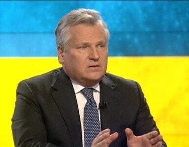 Kwaśniewski o Ukrainie: Scenariusze realne są złe, tragiczne wręcz
