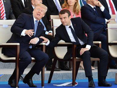 """""""Uwielbia trzymać moją dłoń"""". Trump o spotkaniach z Macronem"""