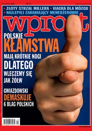 Okładka tygodnika Wprost nr 24/2003 (1072)