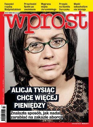 Okładka tygodnika Wprost nr 27/2013 (1584)