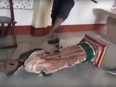 Islamiści zniszczyli wnętrze katedry. Ujawniono wstrząsające nagranie