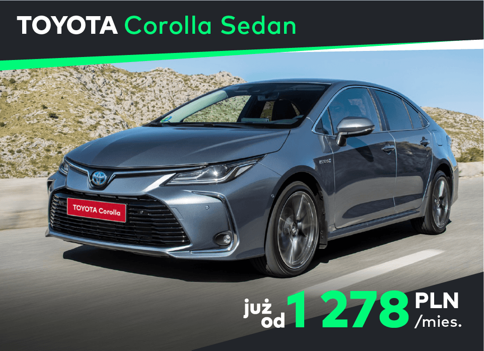 Toyota Corolla Sedan Koniec z kupowaniem aut na własność, to się nie opłaca