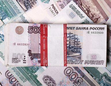 Rubel rekordowo słaby. Niskie ceny ropy uderzają w rosyjską gospodarkę