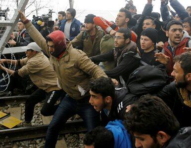 Uchodźcy sforsowali bramę na granicy z Macedonią