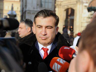 Saakaszwili demonstrował na ulicach Kijowa. Domagał się odsunięcia...