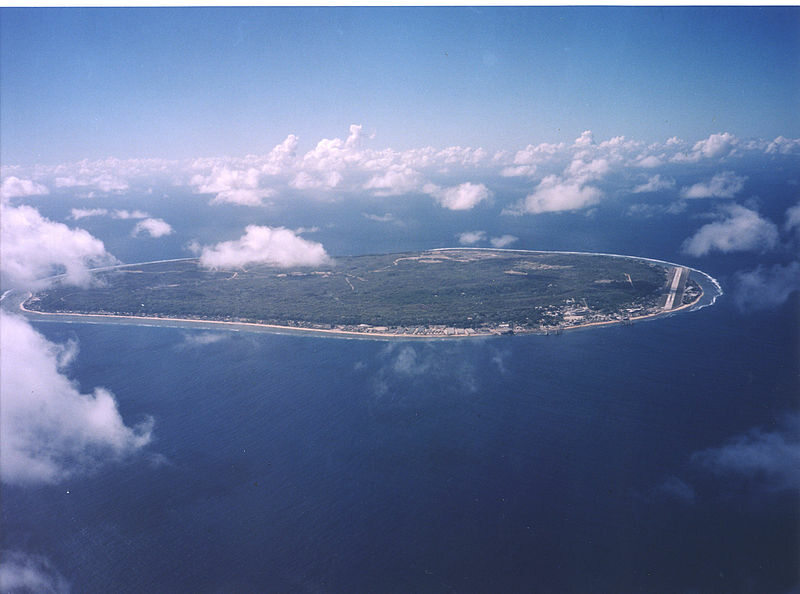 Nauru widziane z samolotu