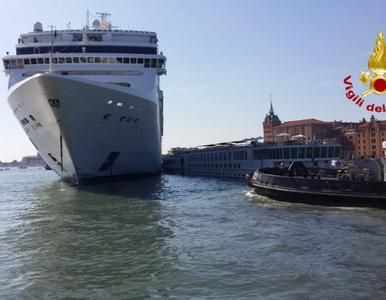 Wenecja. Potężny wycieczkowiec wbił się w mniejszy statek. Do sieci...