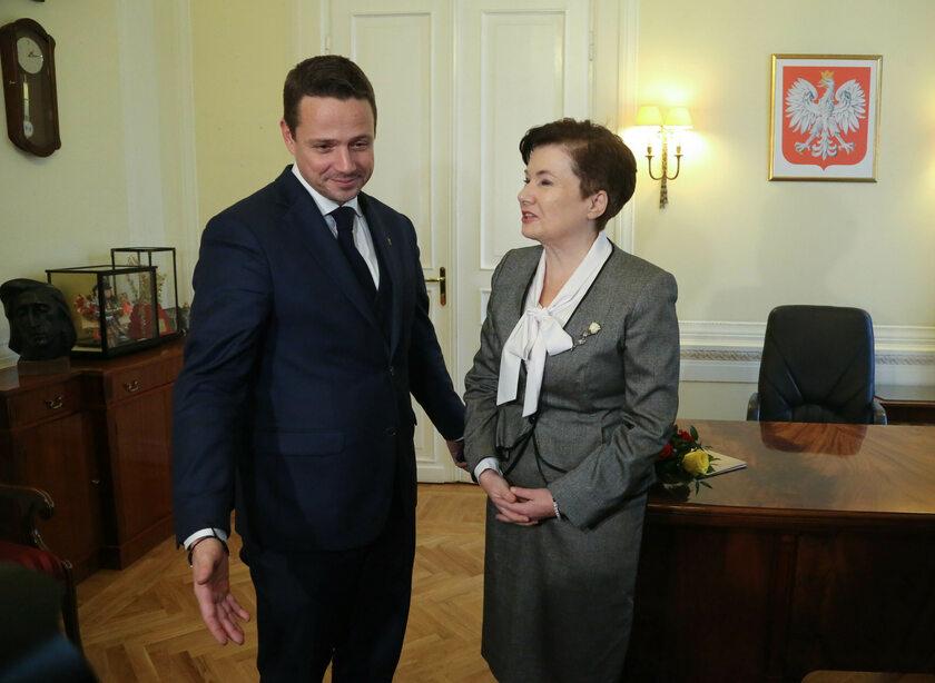 Rafał Trzaskowski i Hanna Gronkiewicz-Waltz
