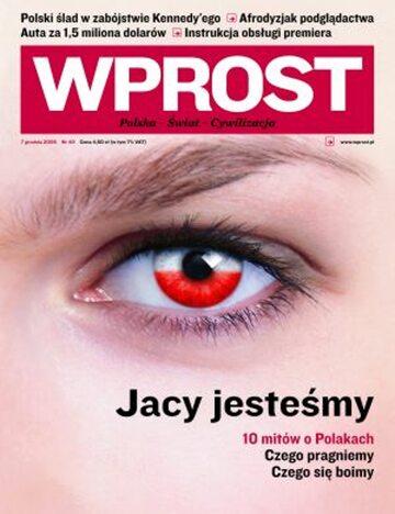 Okładka tygodnika Wprost nr 49/2008 (1354)