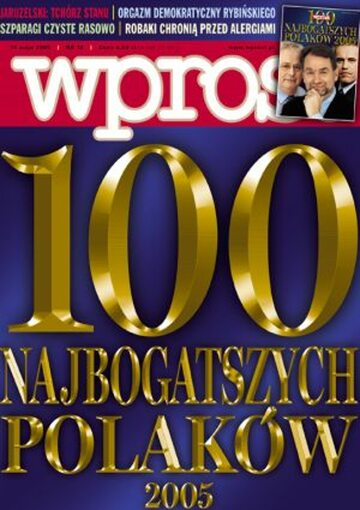 Okładka tygodnika WPROST: 19/2005