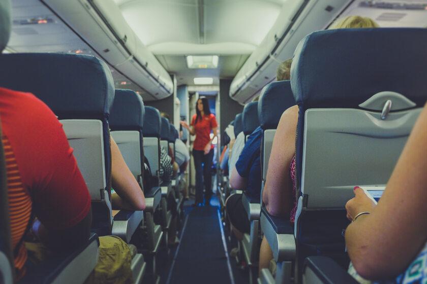 Wnętrze samolotu, zdj. ilustracyjne