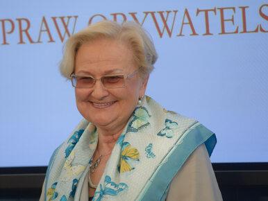 Prof. Łętowska odebrała nagrodę PEN Clubu. Uroczystość przerwał alarm...