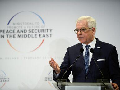 """Konferencja bliskowschodnia zakończona. Czaputowicz mówił o """"procesie..."""