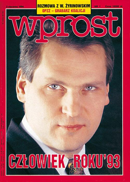 Okładka 1/1994 (580) WPROST Okładka 1/1994 (580) WPROST