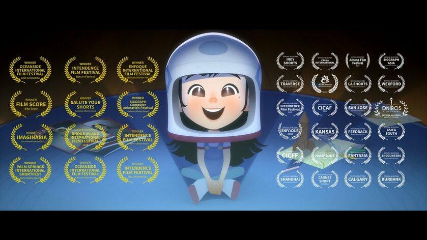 """Grafika reklamująca animację """"One Small Step"""""""