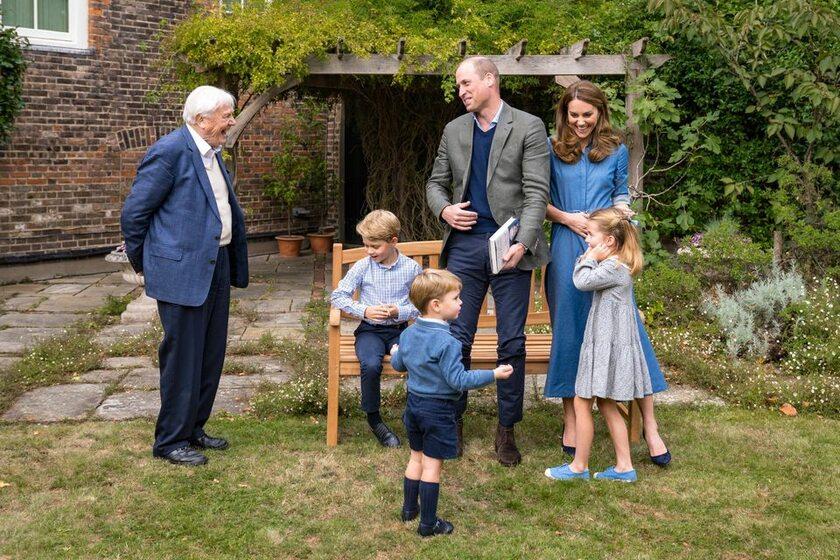 Spotkanie Davida Attenborough z rodziną królewską