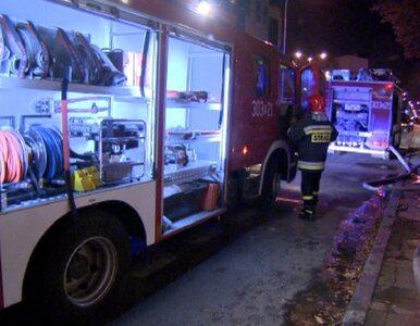 Pożar kamienicy w Łodzi. Lokator ratował się skacząc z okna