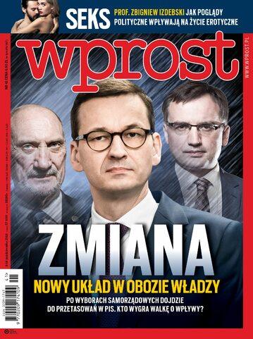 Okładka tygodnika Wprost nr 41/2018 (1856)