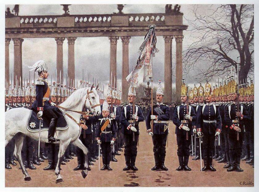 Kaiser Wilhelm II na przeglądzie wojska, obraz Carla Rochlinga
