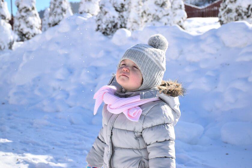 Dziecko na spacerze w zimę