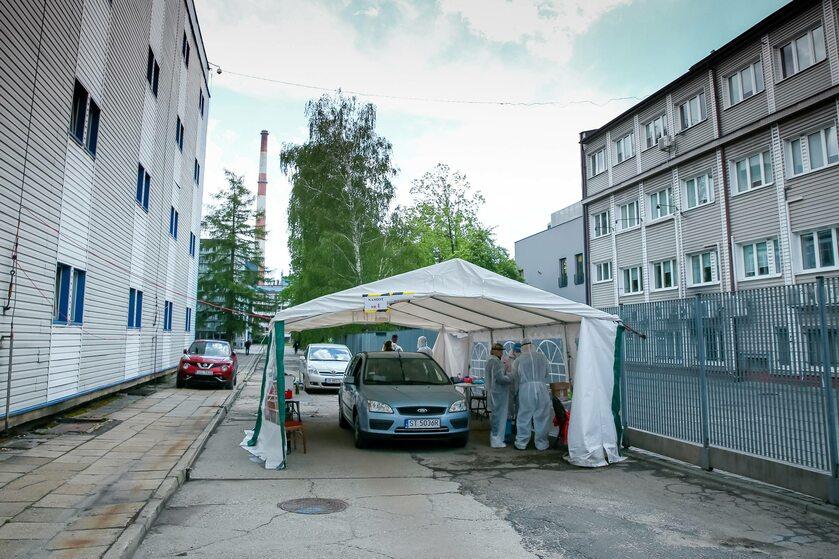 Punkt poboru próbek do badań w Jastrzębiu-Zdroju