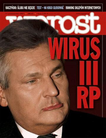 Okładka tygodnika Wprost nr 42/2007 (1295)