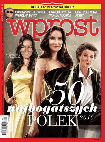 Okładka tygodnika Wprost nr 39/2016 (1755)