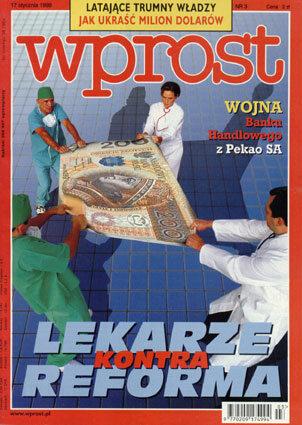 Okładka tygodnika Wprost nr 3/1999 (842)
