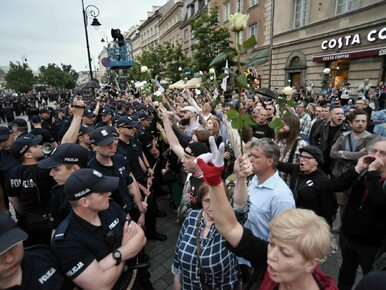 Policja zapowiada wnioski o ukaranie protestujących w czasie...