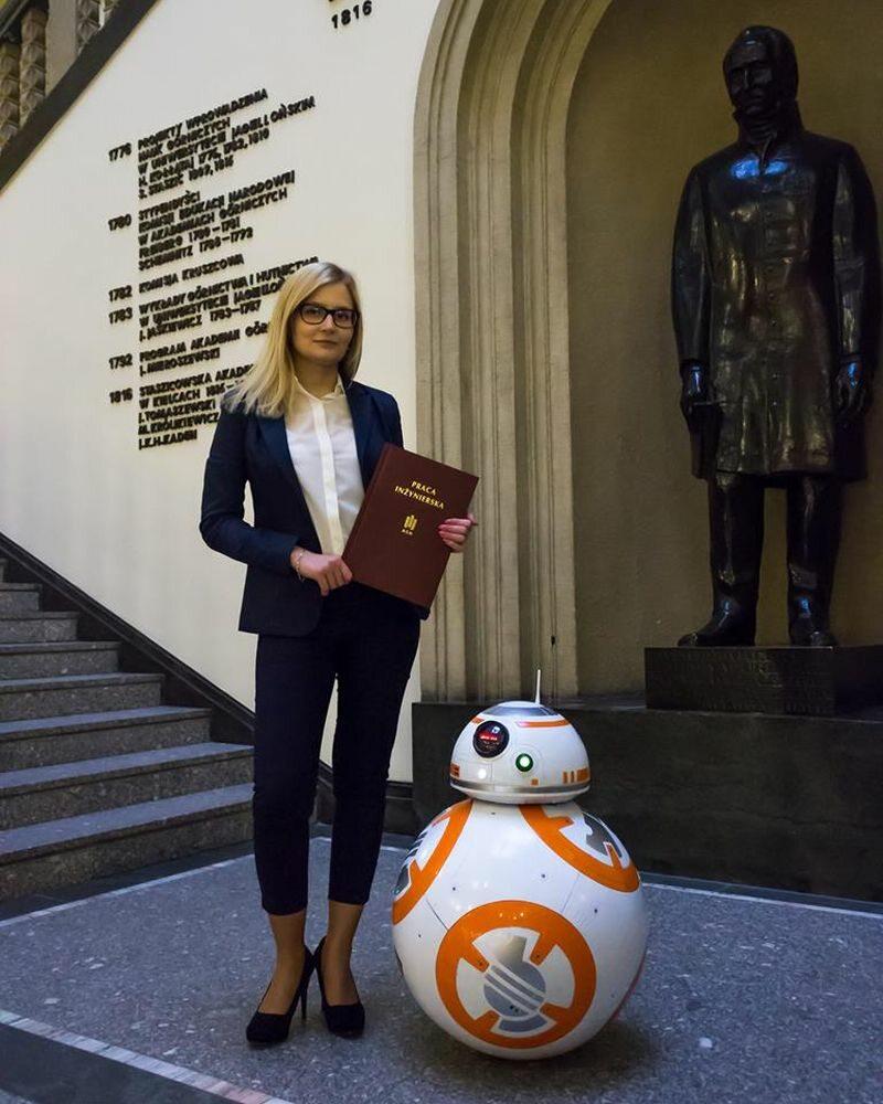 Weronika Muszyńska i jej BB-8