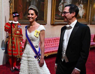 Bankiet na część Donalda Trumpa w Wielkiej Brytanii. Księżna Kate...