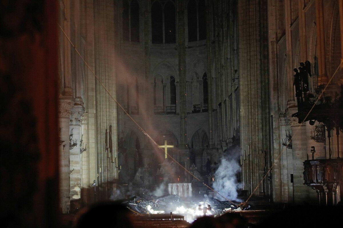 Wnętrze katedry Notre Dame