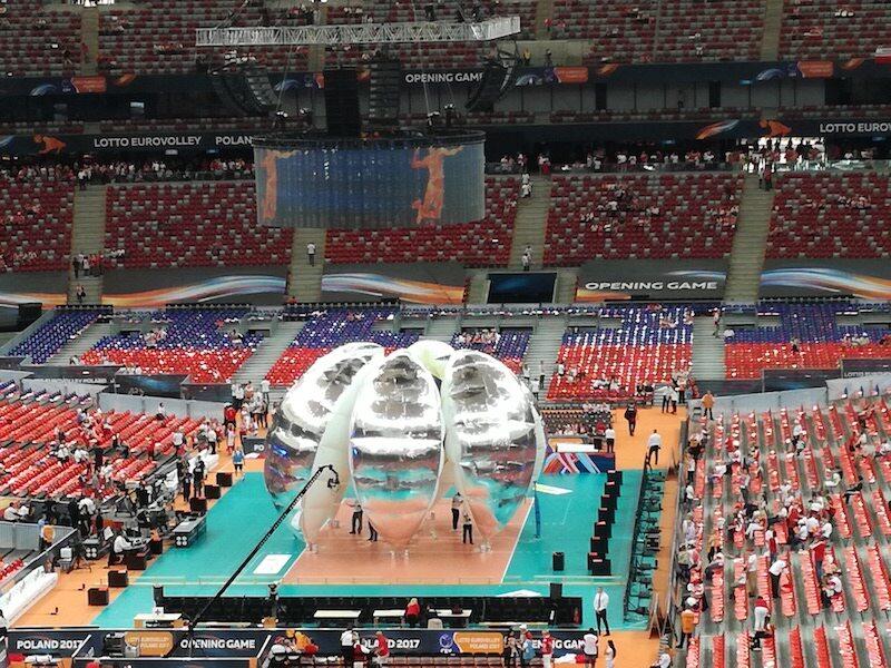 Stadion Narodowy przed meczem Polska - Serbia