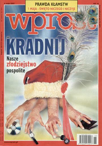 Okładka tygodnika Wprost nr 18/2001 (962)