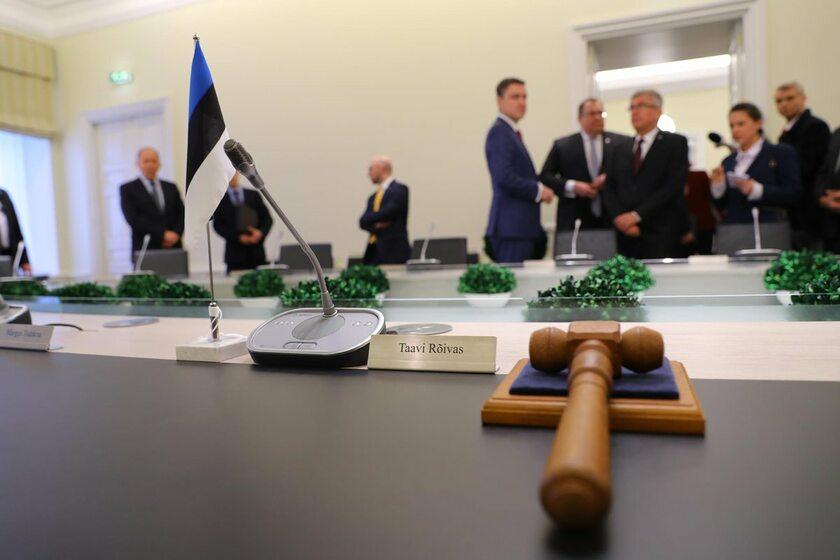 Premier Estonii Taavi Roivas z marszałkiem Stanisławem Karczewskim