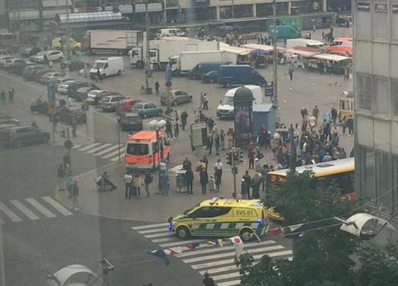 Centrum Turku w Finlandii, gdzie doszło do ataku