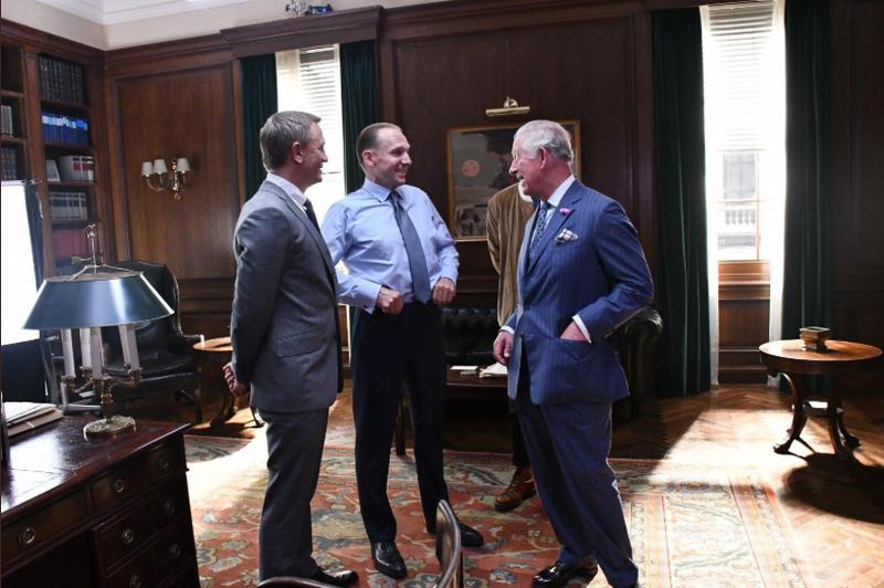 Daniel Craig. Ralph Fiennes i książę Karol na planie filmu o Jamesie Bondzie