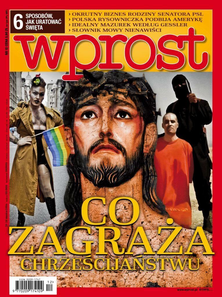 Okładka tygodnika Wprost nr 12/2016 (1729)