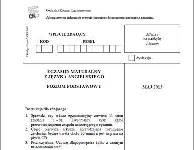 Matura 2013. Zobacz arkusz egzaminacyjny z języka angielskiego