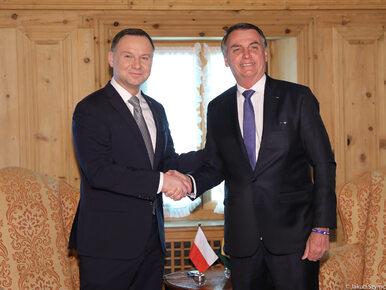 Andrzej Duda spotkał się z Jairem Bolsonaro. Zaprosił kontrowersyjnego...