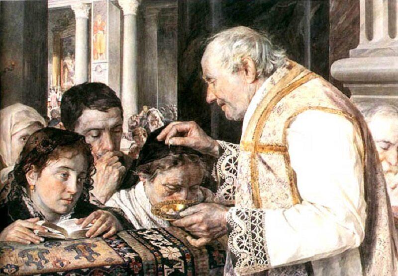Środa Popielcowa na XIX-wiecznym obrazie Juliana Fałata