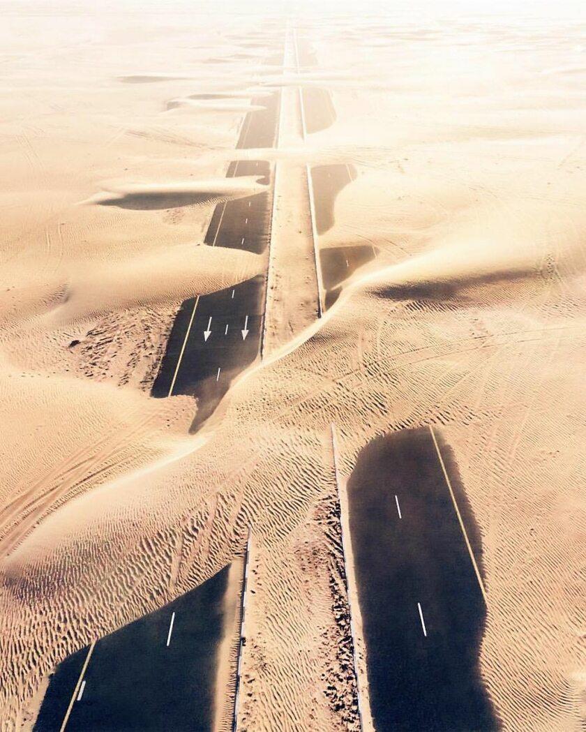Pustynie w Zjednoczonych Emiratach Arabskich