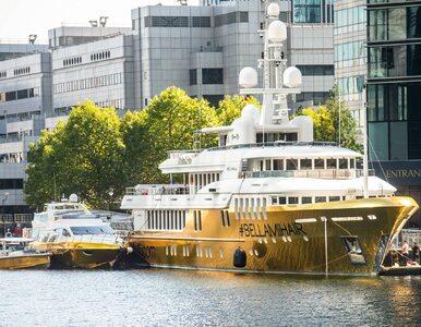 """Złoty jacht o wartości 78 mln złotych jest w Londynie. """"Klasy nie kupisz"""""""