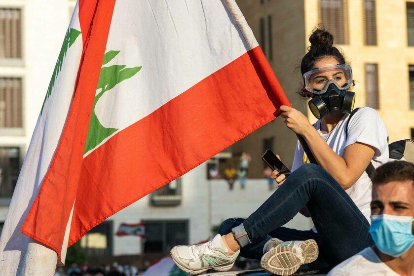 Antyrządowy protest w Bejrucie