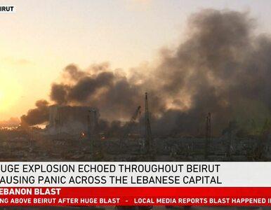 Bejrutem wstrząsnęła ogromna eksplozja. Minister mówi o setkach rannych